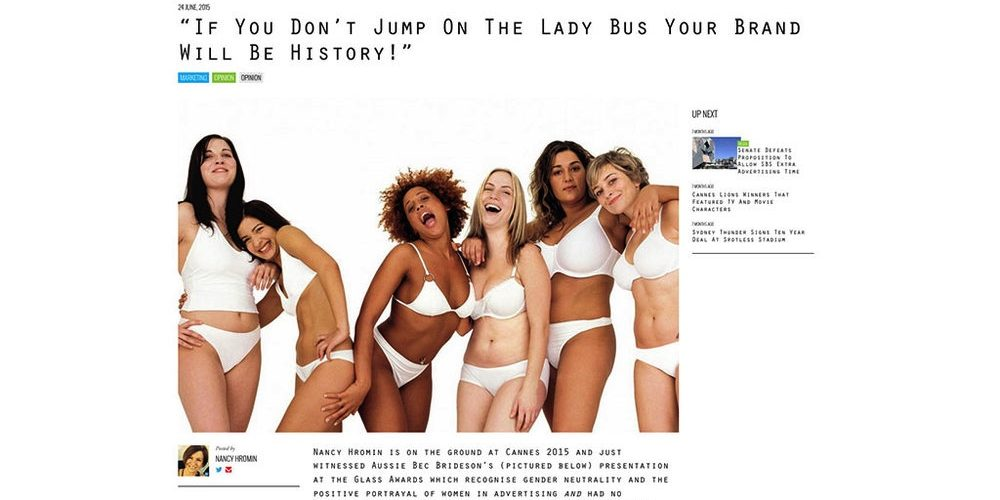 B&T: If You Don't Jump On The Lady Bus, Your Brand Will Be History!