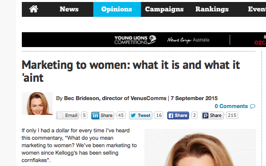 Ad News: Marketing To Women - What It Is and What It 'Aint