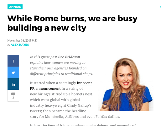 Mumbrella: While Rome Burns, We Are Busy Building A New City