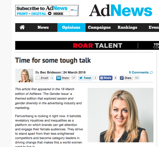 AD NEWS: Time For Some Tough Talk
