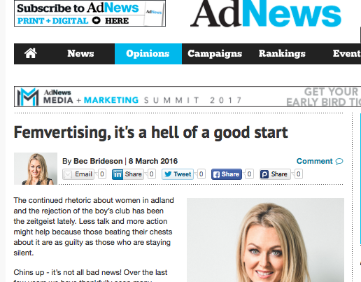Ad News: Femvertising - It's a Hell of a Good Start.