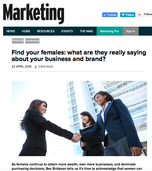 Marketing Mag: Finding Your Females