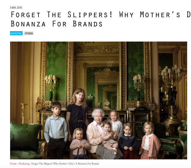 B&T: Why Mother's Day A Bonanza for Brands