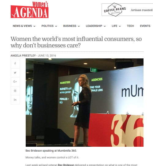 Women's Agenda: Women, the world's most influential consumer, so why don't businesses care?