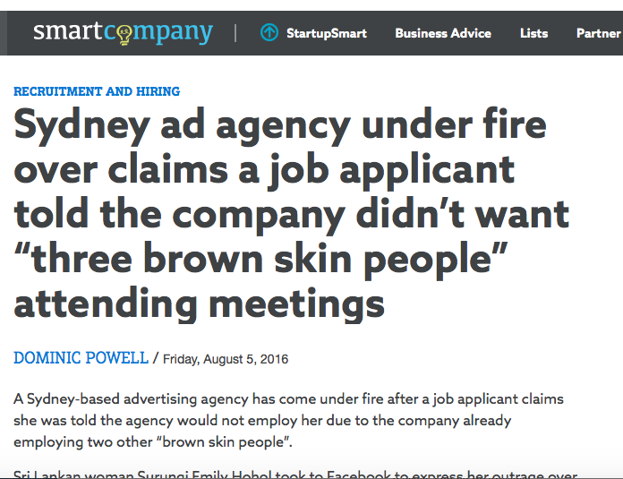 Smart Company: Sydney Agency Under Fire Over Recruitment