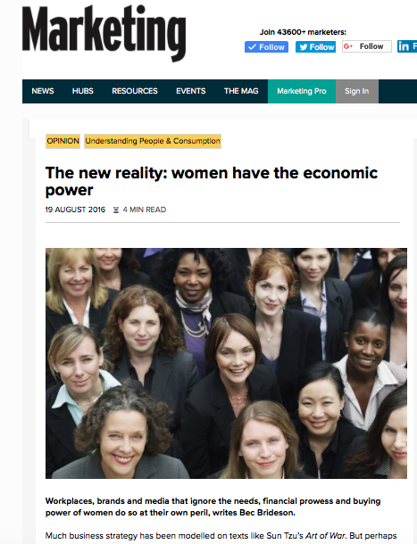 MARKETING MAG: The New Reality - Women Have The Economic Power