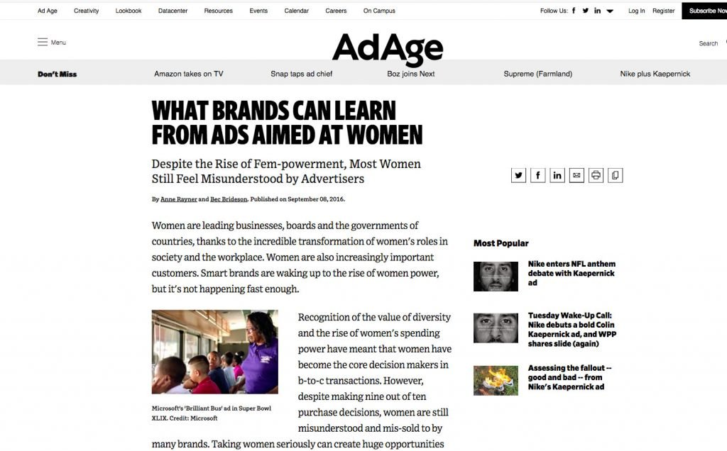 AD AGE: THE IRREFUTABLE RESEARCH HAS LANDED