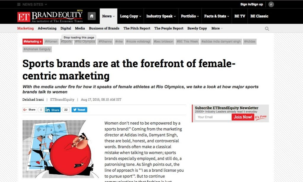 ET Brand Equity: Sports brands are at the forefront of female-centric marketing