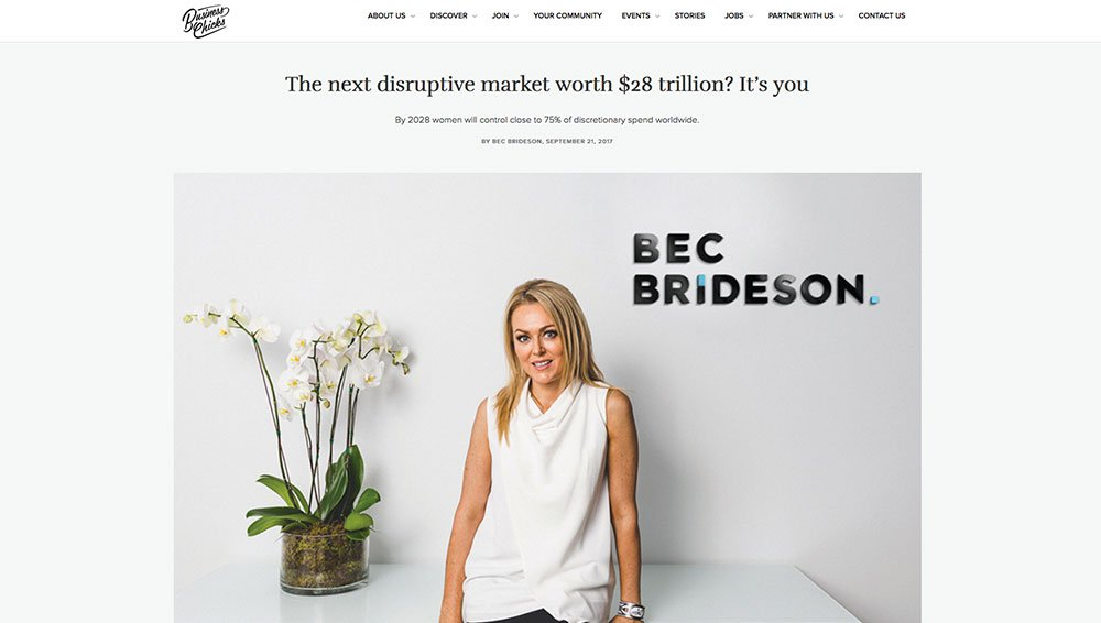 Business Chicks: The next disruptive market worth $28 trillion? It's you.