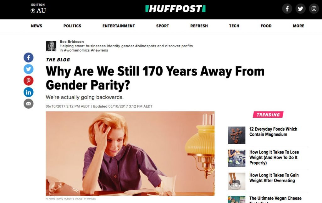 Huff Post: Why are we still 170 years away from gender parity?