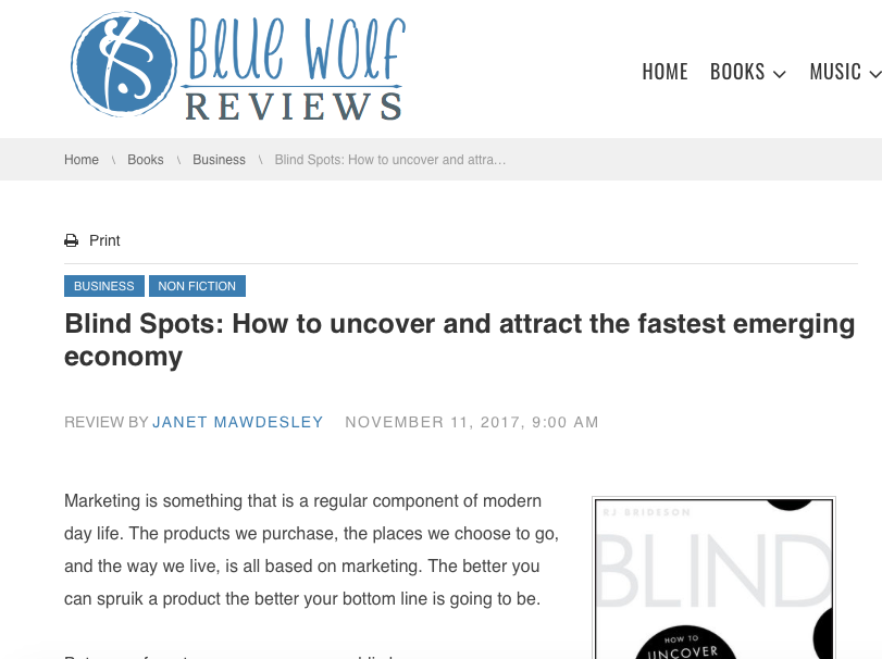 Blue Wolf Reviews: Blind Spots Extract