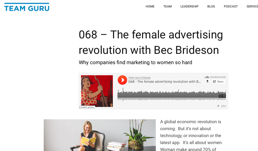 Team Guru Podcast: The Female Advertising Revolution with Bec Brideson