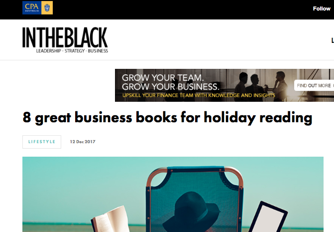InTheBlack: 8 Great Business Books For Holiday Reading