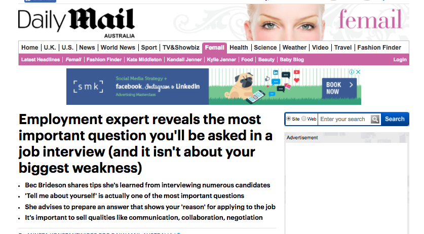 DAILY MAIL: Gender Expert Talks Employment Tips for Hirees