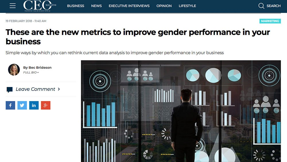 CEO MAG: New Metrics to Improve Gender Performance
