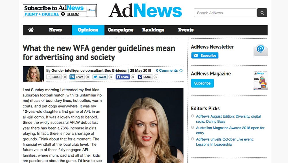 Ad News: What the new WFA gender guidelines mean for advertising and society?