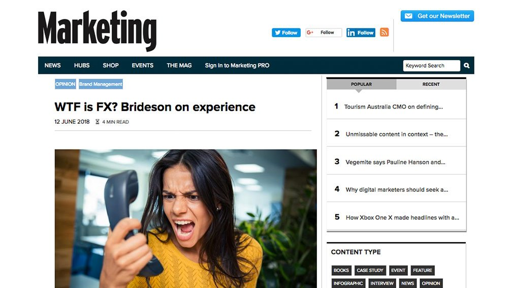 Marketing Mag: WTF is FX? The female experience in marketing.