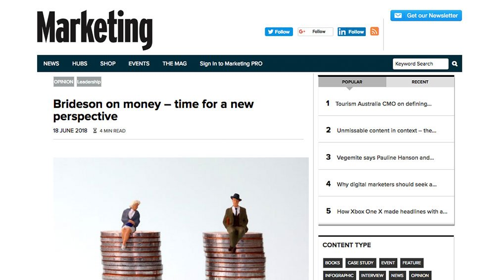 Marketing Mag: The Modern Money Woman - A New Perspective