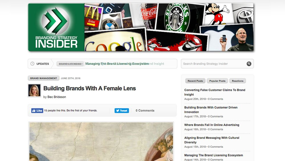 Branding Insider: Today's brands require a female lens